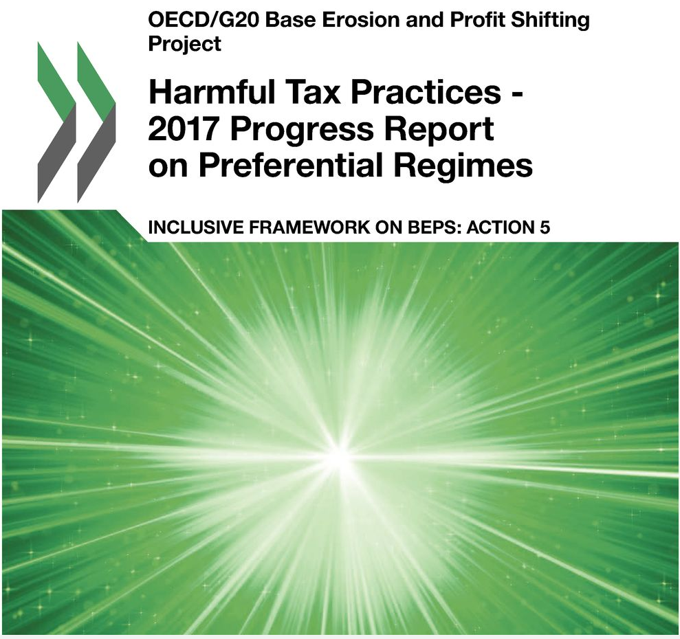 OECD: Report on harmful tax practices, 16 October 2017